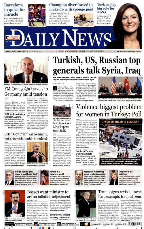 HÜRRİYET DAİLY NEWS - 08 Mart 2017