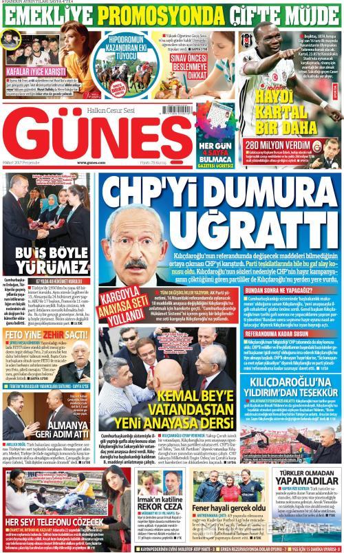 GÜNEŞ - 09 Mart 2017