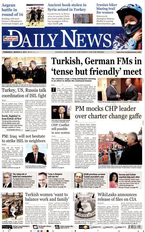 HÜRRİYET DAİLY NEWS - 09 Mart 2017