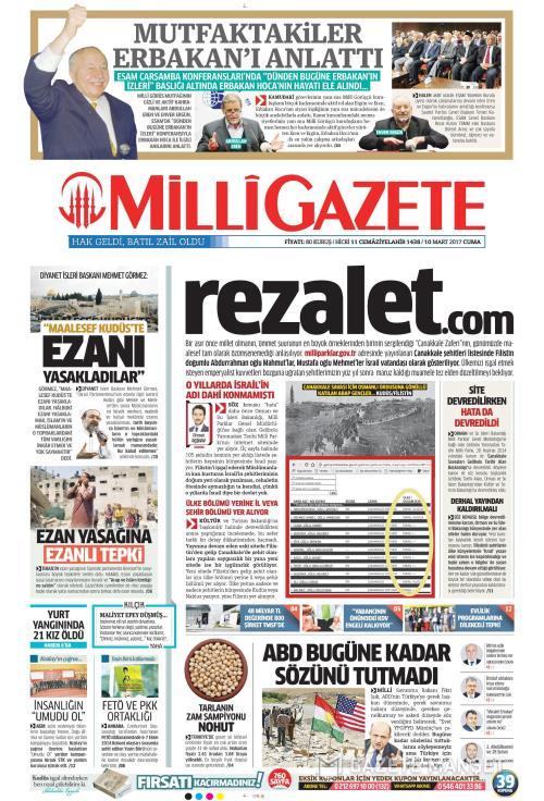MİLLİ GAZETE - 10 Mart 2017