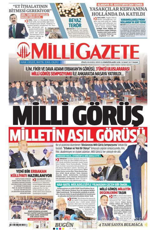 MİLLİ GAZETE - 12 Mart 2017