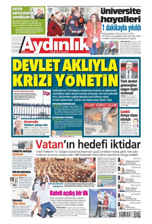 AYDINLIK - 13 Mart 2017