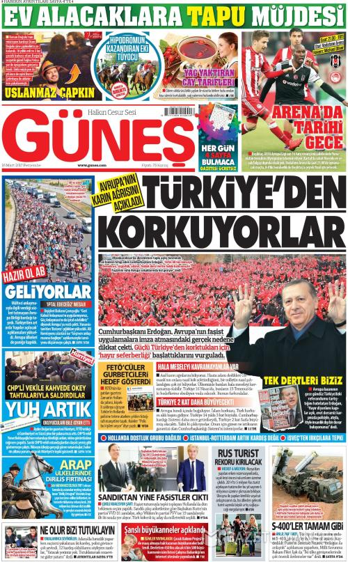 GÜNEŞ - 16 Mart 2017
