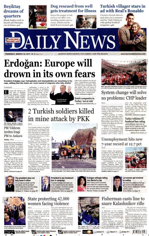 HÜRRİYET DAİLY NEWS - 16 Mart 2017