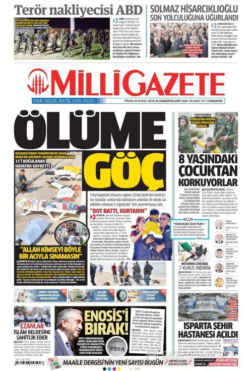 MİLLİ GAZETE - 25 Mart 2017