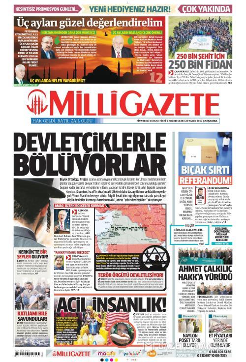MİLLİ GAZETE - 29 Mart 2017