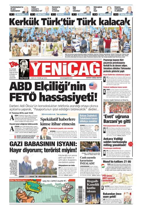 Türkiye'de Yeni Çağ - 30 Mart 2017