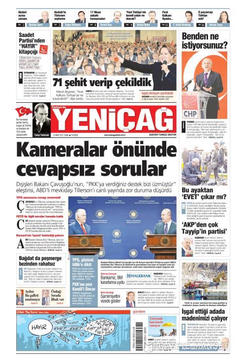 Türkiye'de Yeni Çağ - 31 Mart 2017
