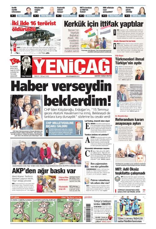 Türkiye'de Yeni Çağ - 07 Nisan 2017