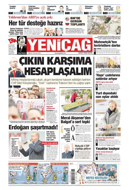 Türkiye'de Yeni Çağ - 09 Nisan 2017