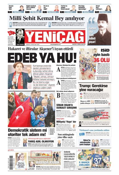 Türkiye'de Yeni Çağ - 10 Nisan 2017