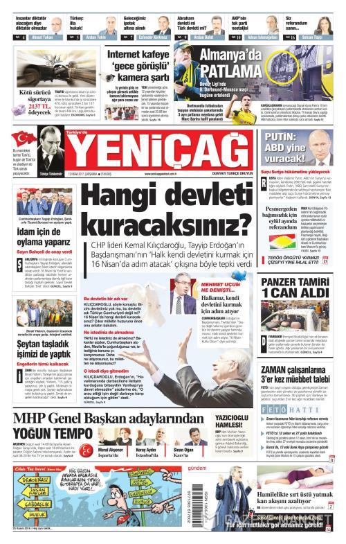 Türkiye'de Yeni Çağ - 12 Nisan 2017