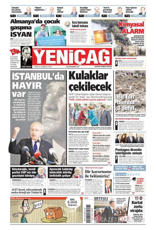 Türkiye'de Yeni Çağ - 13 Nisan 2017