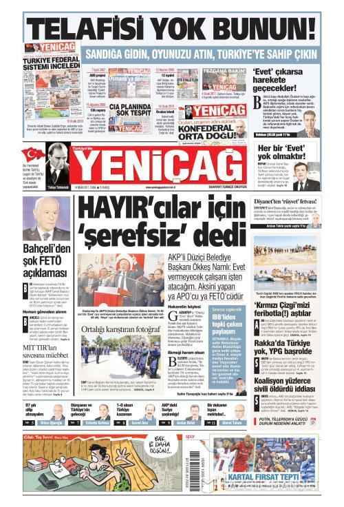 Türkiye'de Yeni Çağ - 14 Nisan 2017