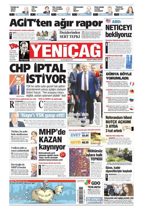 Türkiye'de Yeni Çağ - 18 Nisan 2017