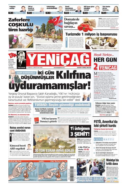 Türkiye'de Yeni Çağ - 22 Nisan 2017