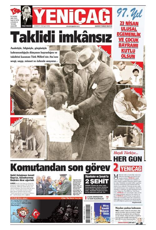 Türkiye'de Yeni Çağ - 23 Nisan 2017
