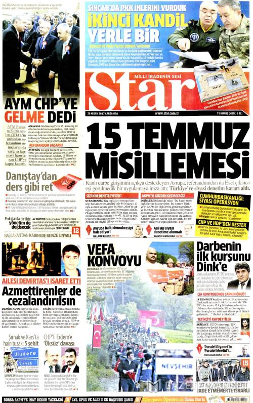 STAR - 26 Nisan 2017