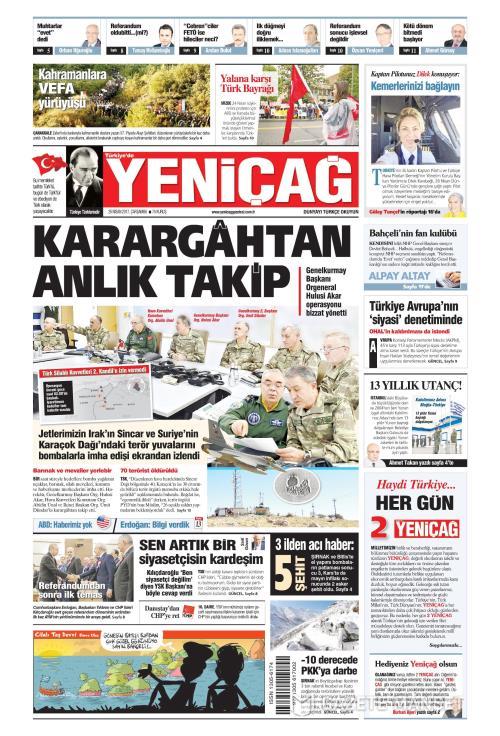 Türkiye'de Yeni Çağ - 26 Nisan 2017