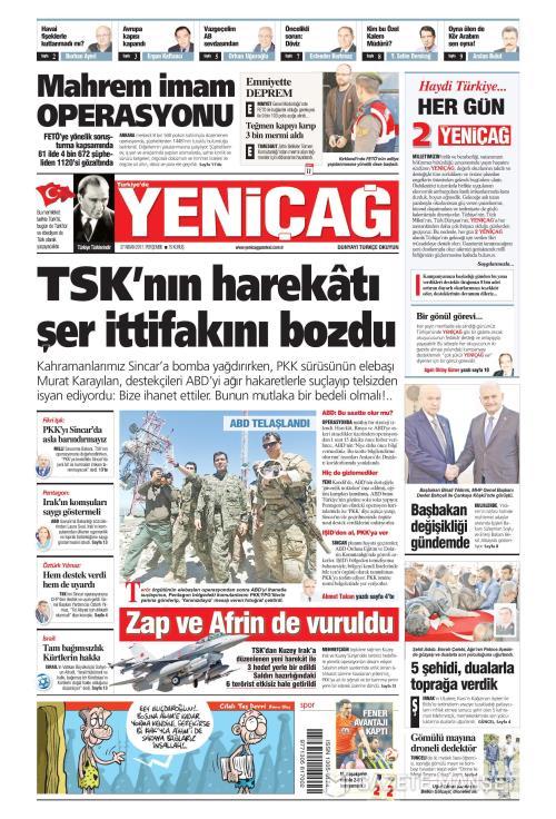 Türkiye'de Yeni Çağ - 27 Nisan 2017