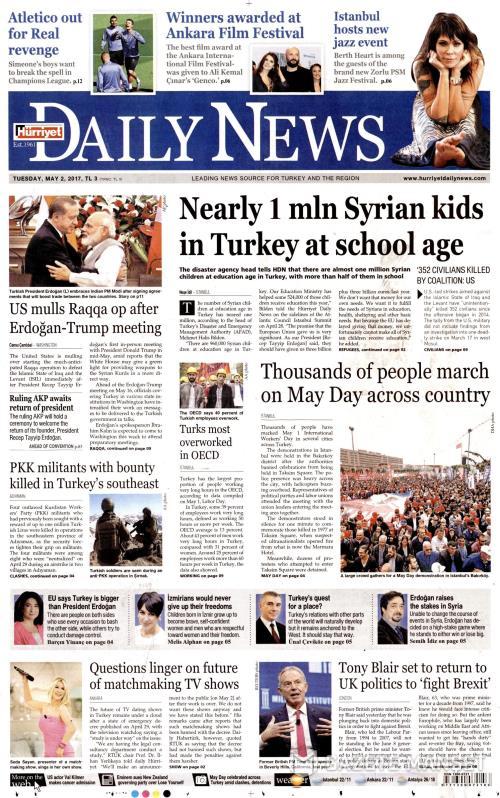 HÜRRİYET DAİLY NEWS - 02 Mayıs 2017