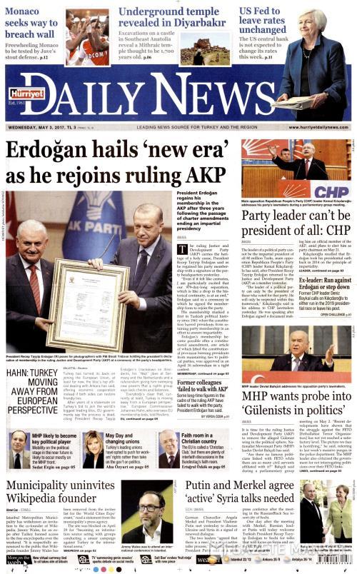 HÜRRİYET DAİLY NEWS - 03 Mayıs 2017