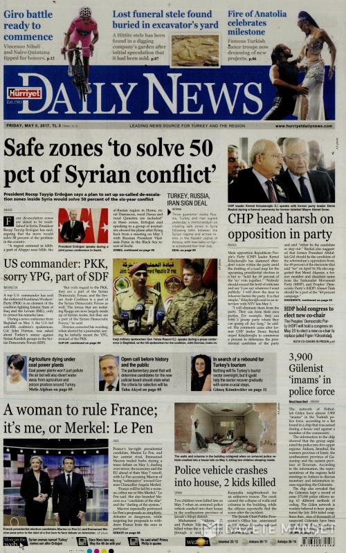 HÜRRİYET DAİLY NEWS - 05 Mayıs 2017