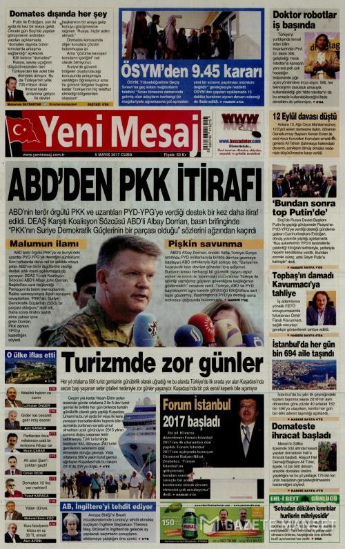 YENİ MESAJ - 05 Mayıs 2017