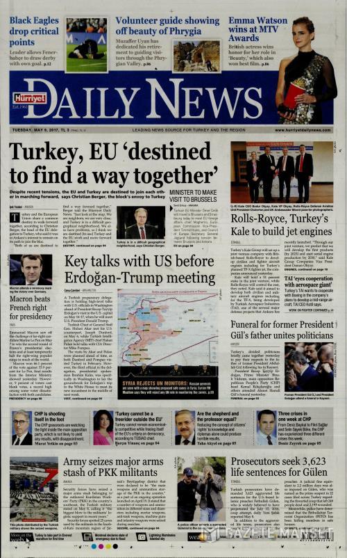 HÜRRİYET DAİLY NEWS - 09 Mayıs 2017
