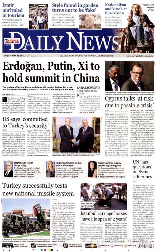 HÜRRİYET DAİLY NEWS - 12 Mayıs 2017