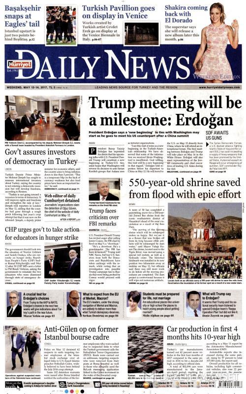 HÜRRİYET DAİLY NEWS - 13 Mayıs 2017