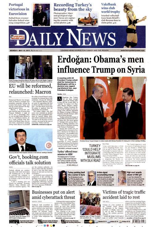 HÜRRİYET DAİLY NEWS - 15 Mayıs 2017