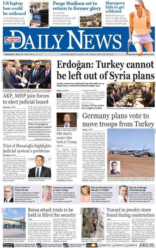 HÜRRİYET DAİLY NEWS - 18 Mayıs 2017