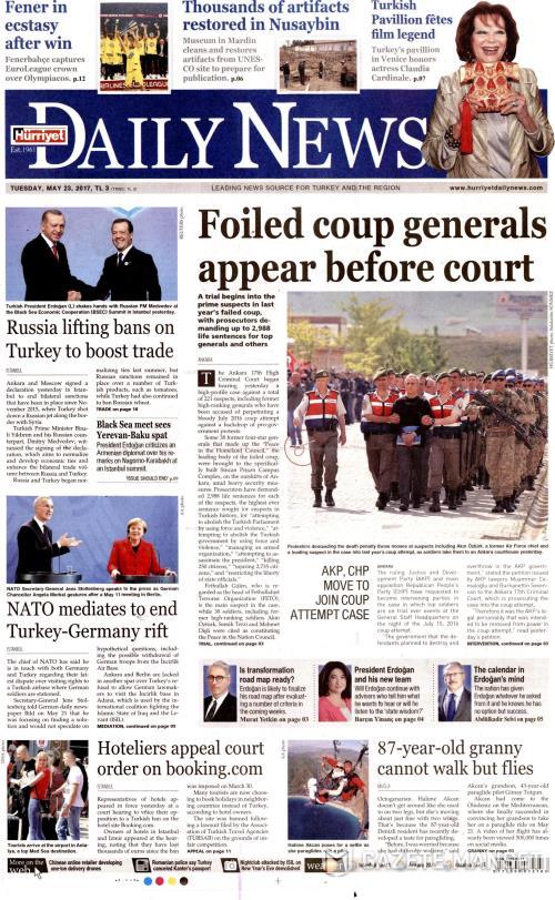 HÜRRİYET DAİLY NEWS - 23 Mayıs 2017