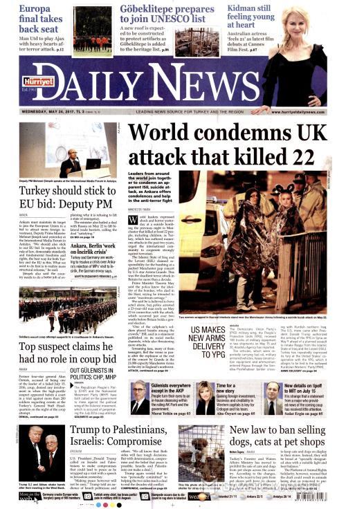 HÜRRİYET DAİLY NEWS - 24 Mayıs 2017