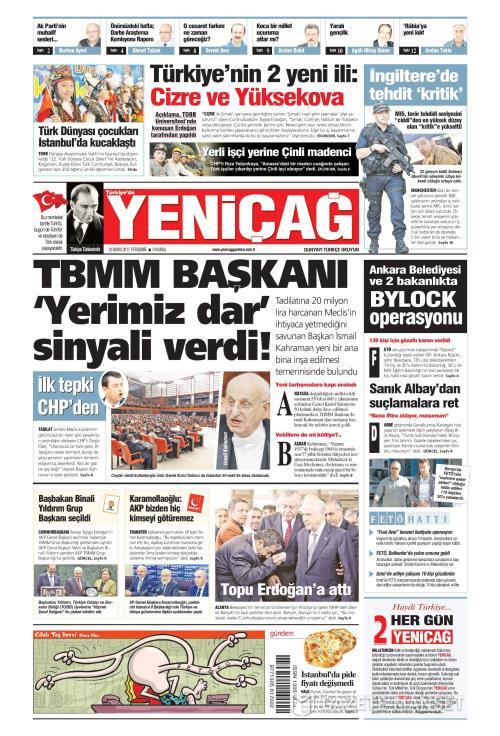 Türkiye'de Yeni Çağ - 25 Mayıs 2017