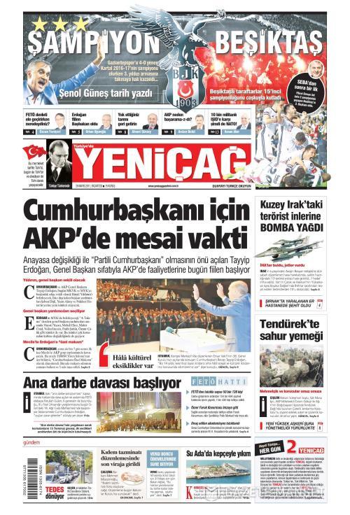 Türkiye'de Yeni Çağ - 29 Mayıs 2017