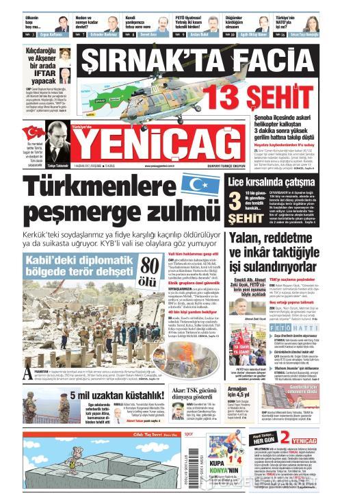 Türkiye'de Yeni Çağ - 01 Haziran 2017