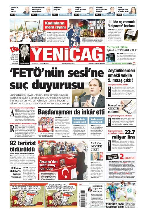 Türkiye'de Yeni Çağ - 03 Haziran 2017