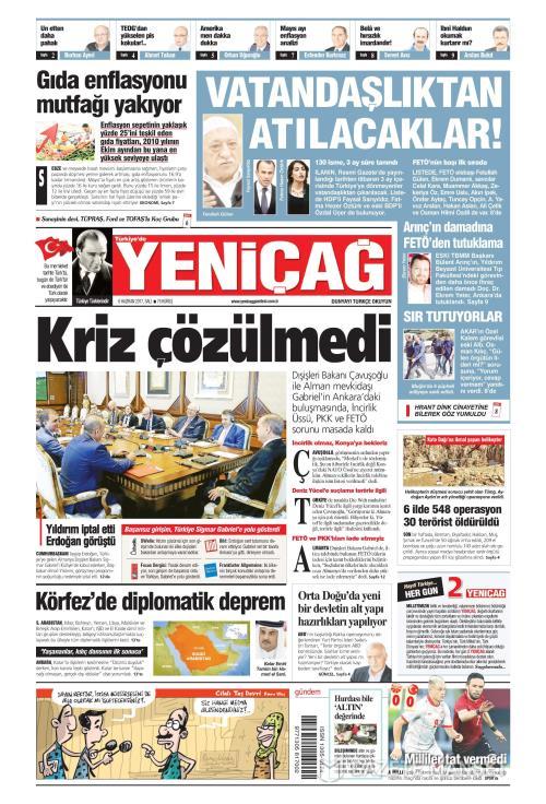 Türkiye'de Yeni Çağ - 06 Haziran 2017