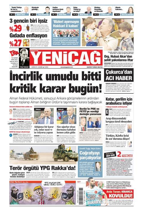 Türkiye'de Yeni Çağ - 07 Haziran 2017