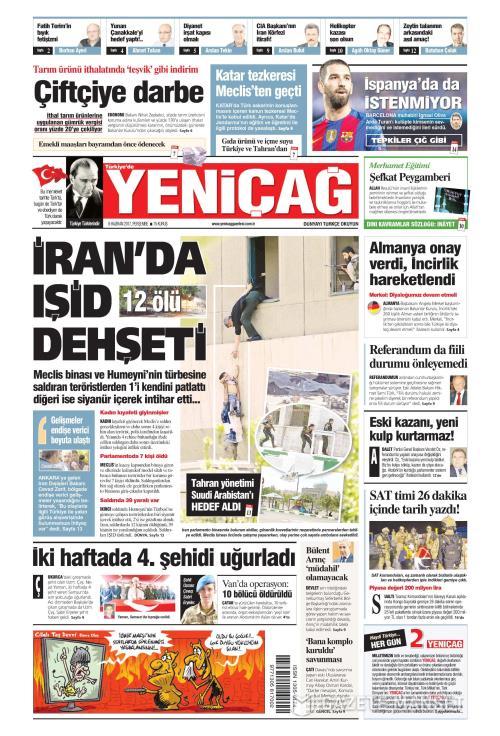 Türkiye'de Yeni Çağ - 08 Haziran 2017