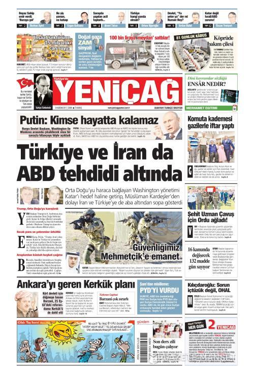 Türkiye'de Yeni Çağ - 09 Haziran 2017