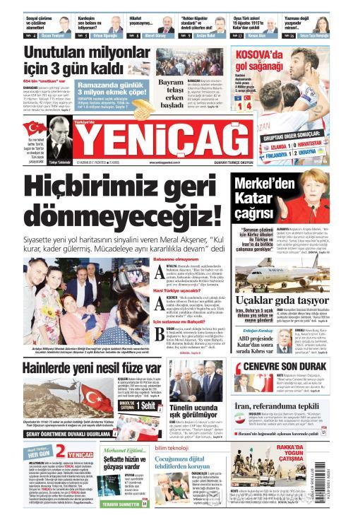 Türkiye'de Yeni Çağ - 12 Haziran 2017