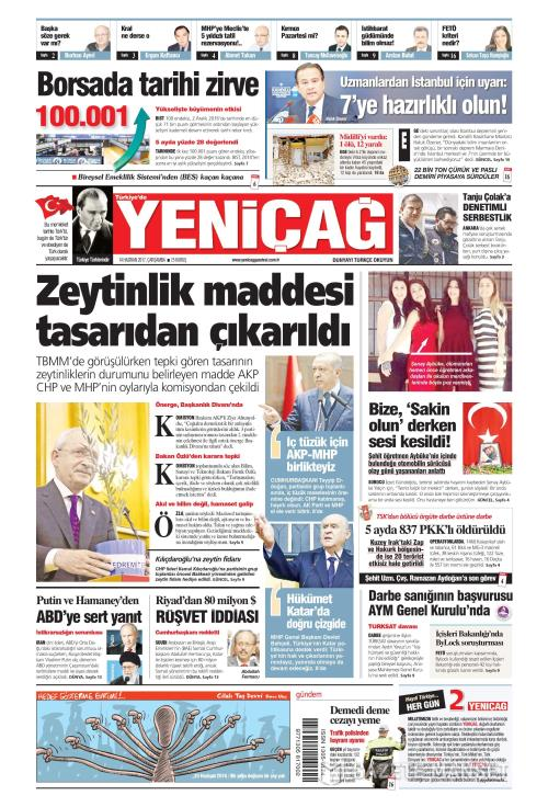 Türkiye'de Yeni Çağ - 14 Haziran 2017