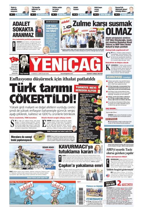 Türkiye'de Yeni Çağ - 17 Haziran 2017