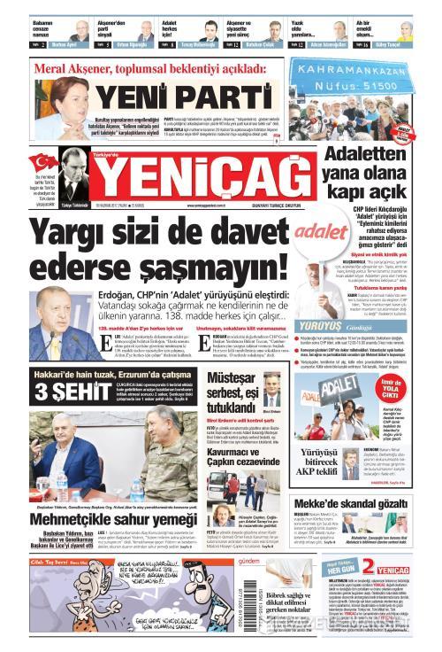 Türkiye'de Yeni Çağ - 18 Haziran 2017