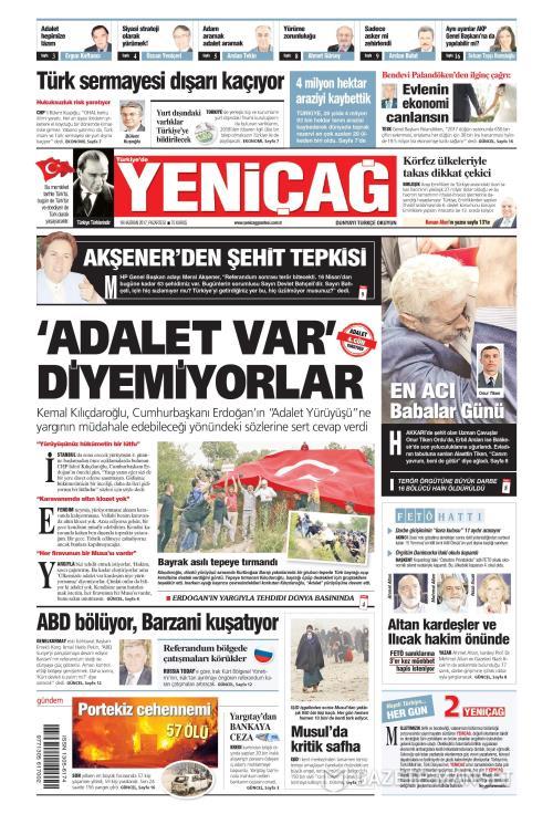 Türkiye'de Yeni Çağ - 19 Haziran 2017