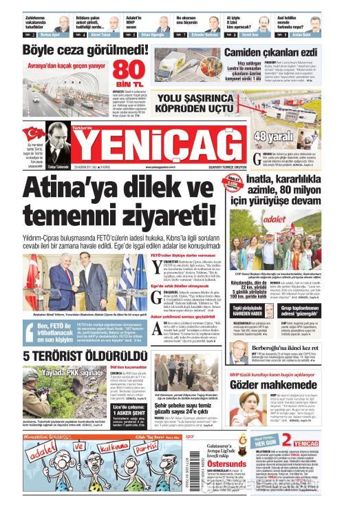 Türkiye'de Yeni Çağ - 20 Haziran 2017