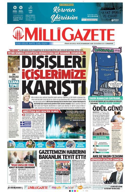 MİLLİ GAZETE - 24 Haziran 2017